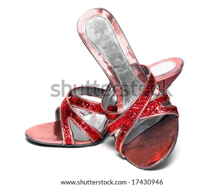 woman shoes isolated on white background