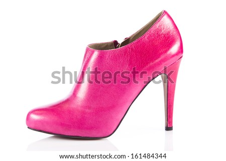 Woman shoes isolated on white. Nice woman shoes - stock photo