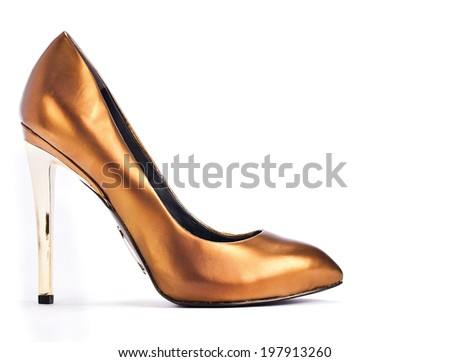 woman shoes on a white background