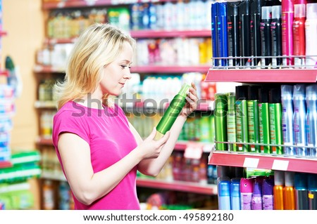 woman shopping air freshener or deodorant