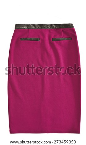 woman skirt isolated - stock photo