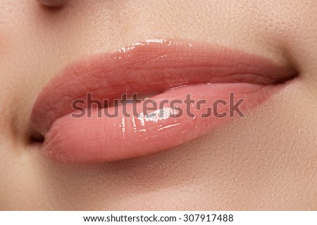 Woman smile. Teeth whitening. Dental care - stock photo