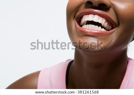 Woman smiling - stock photo
