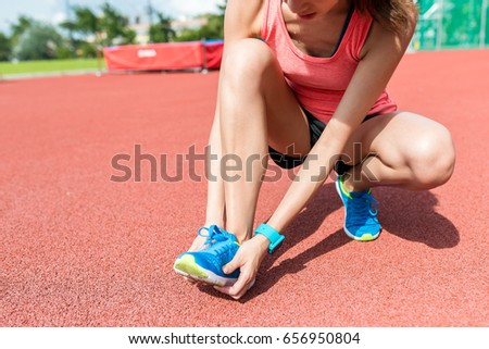 Woman suffer form pain on sole
