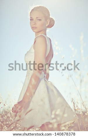 Woman sunlight - stock photo