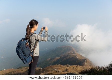 Woman taking photo