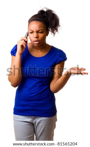 woman talking on a mobile phone. - stock photo