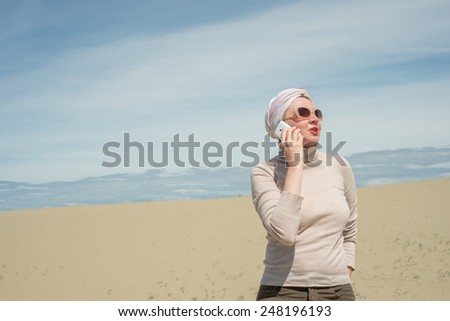 Woman talking on a smartphone