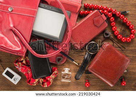 Woman things  - stock photo