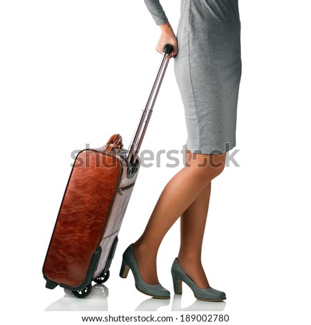 Woman traveling on business. Business travel concept - stock photo