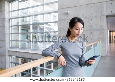 Woman use of the smart phone