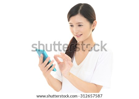 Woman using a smart phone
