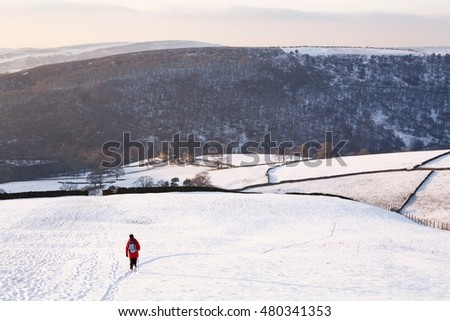 Woman walking in winter