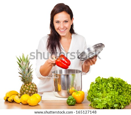Woman wants to cook vegetables