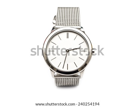 Woman Watch Isolated On White - stock photo