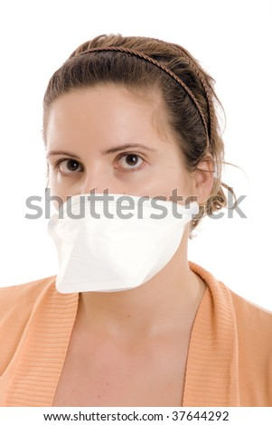 woman wear mask for protection flu virus