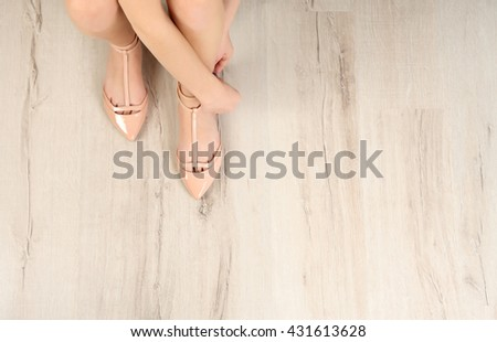Woman wearing beauty shoes