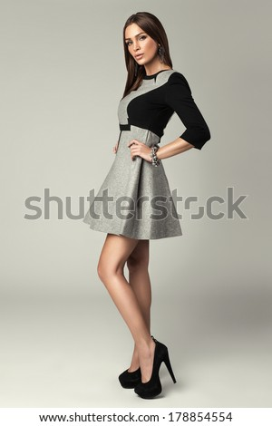 Woman wearing fashion clothes - stock photo