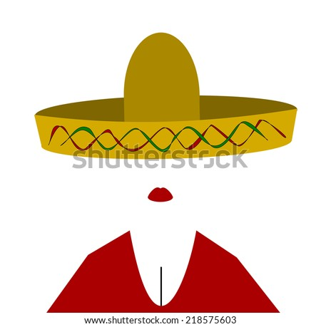 woman wearing sombrero and red top