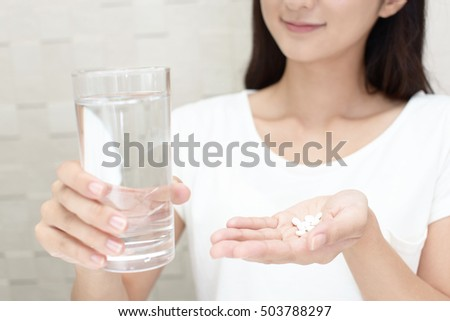 Woman who drink supplements