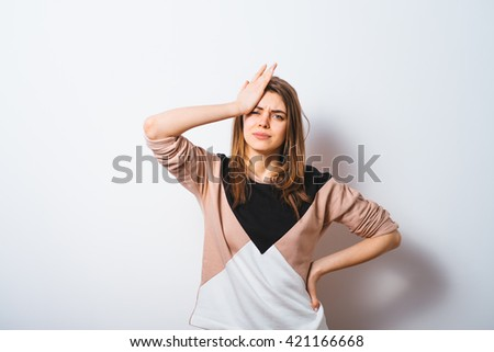 Woman Who Made A Mistake - stock photo
