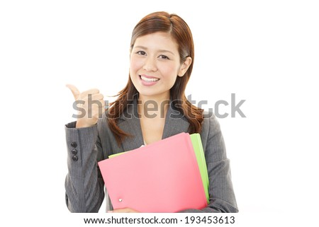 woman who smiling happy