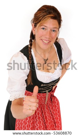 Woman with a Bavarian Dirndl