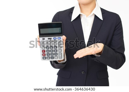 Woman with a calculator