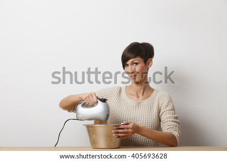 woman with a mixer