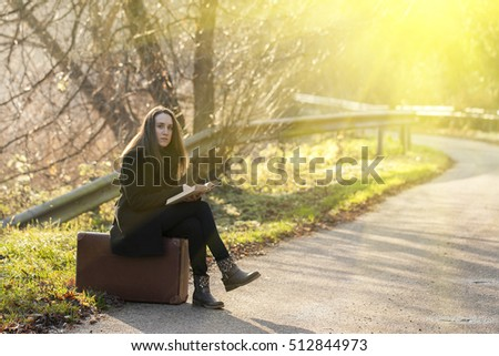 Woman with a retro book