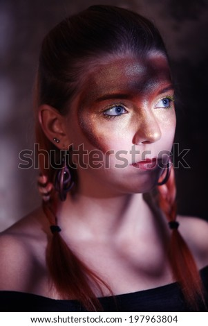 Woman with a special make-up
