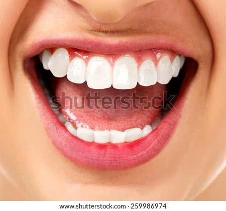 Woman with an open mouth - stock photo