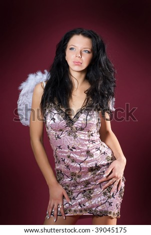 woman with angelic wings