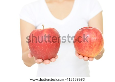 Woman with apples
