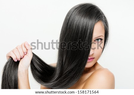 Woman with beauty long  hair - stock photo