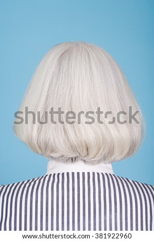 Woman with bob hairstyle - stock photo