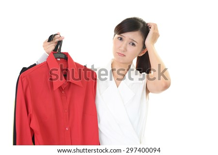 Woman with cloths