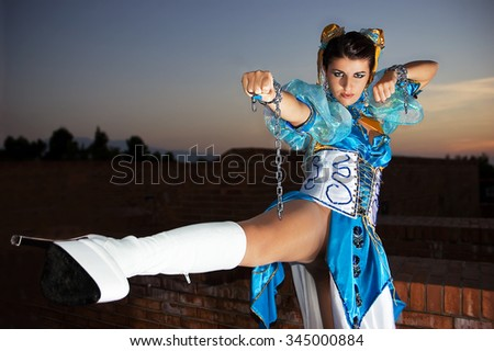 Woman with dress for Cosplayers - stock photo