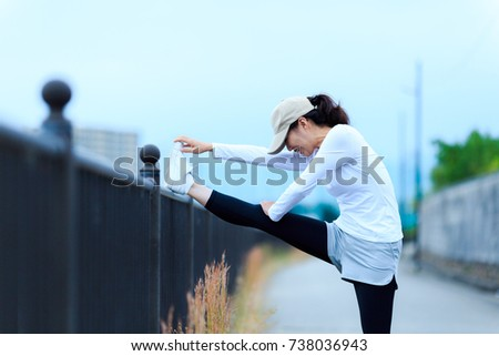 woman with flexible exercise