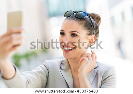 Woman with her smartphone