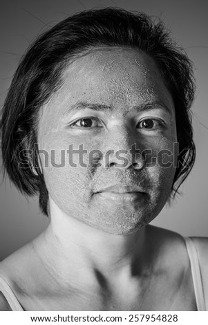 Woman With Herbal Facial  Mask