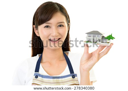 Woman with housing model
