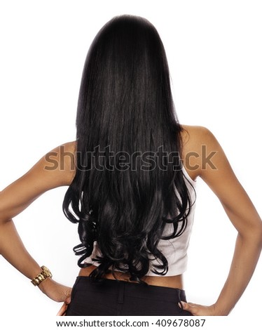 Woman with long dark hair
