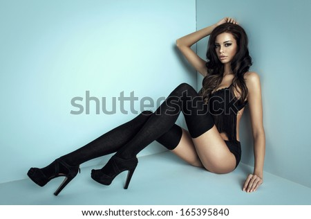 Woman with long legs  - stock photo
