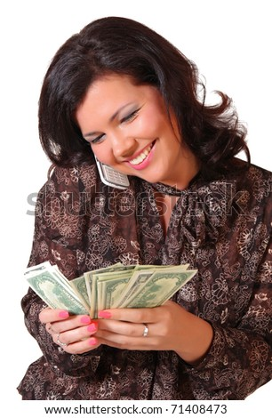 Woman with money