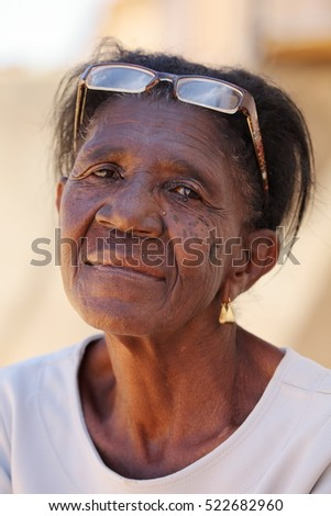 Woman with sad eyes from Brazil
