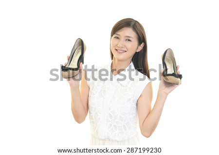 Woman with shoes