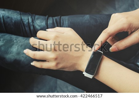Woman with smartwatch