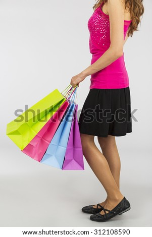 Woman with the shopping bags