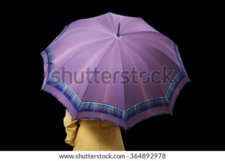 woman with umbrella on background - stock photo